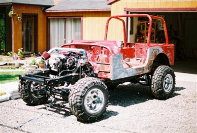 Jeep Project 91 YJ/Willys Frame,  Engine and Tub