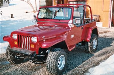 1991 YJ Willys Project Finished Lft Side Frt Ed Bentley