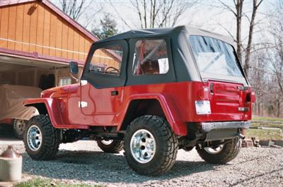 1991 YJ Willys Project Finished Lft Side Rear Ed Bentley
