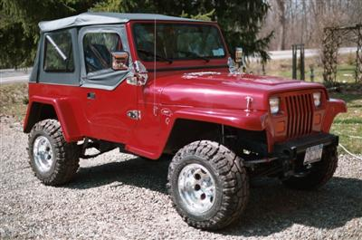 1991 YJ Willys Project Finished Rt Side Frt Ed Bentley