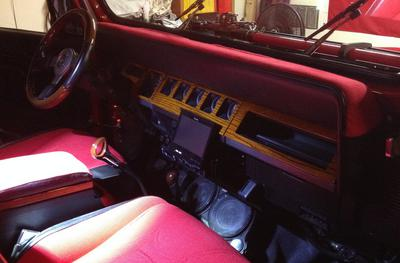 Inside dash and sound system.