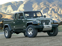 Jeep Gladiator Concept Front View!