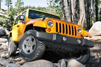 2013 Yellow Jeep Wrangler Rubicon