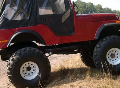 Tall Jeep Lift on a CJ5!