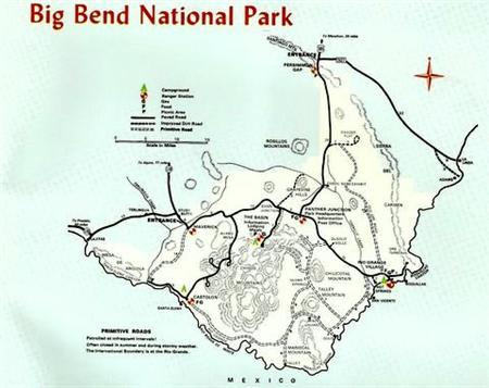 Big Bend National Park Map!