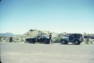 Big Bend National Park...Car Tows Jeep!