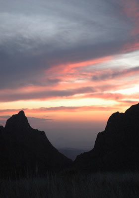 Chihuahuan Desert Sunset From The Chisos Basin!