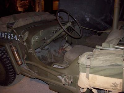 Pacific War Museum Jeep Interior!