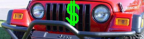 Jeep Wrangler Grill With Dollar Sign