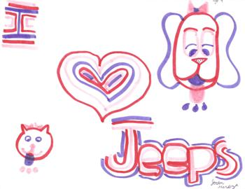 Jordan's Love Jeeps Drawing!