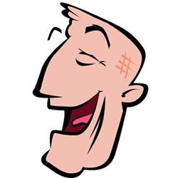 Funny Lists Laughing Man Cartoon Image!
