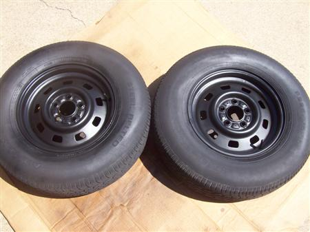 My MJ Jeep Wheels After Painting!