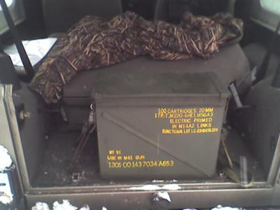 120MM ammo case works great