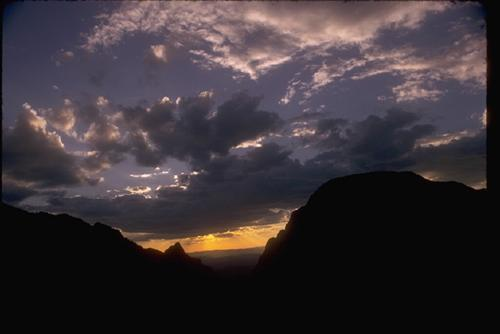 Big Bend National Park At Dusk!