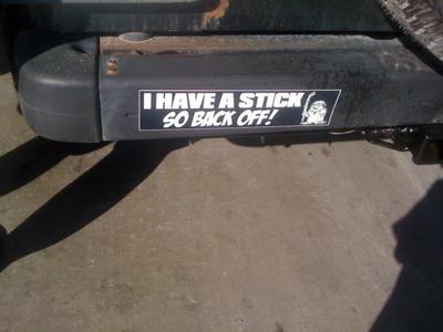 Custom made bumper sticker