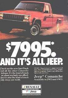 New 1987 Comanche Ad (File Photo)