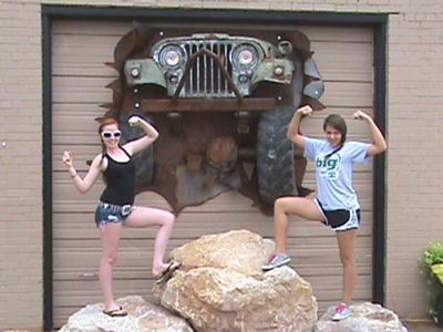 Haleigh and Kristin at Rock City Burger (Bridgeport, Tx.)