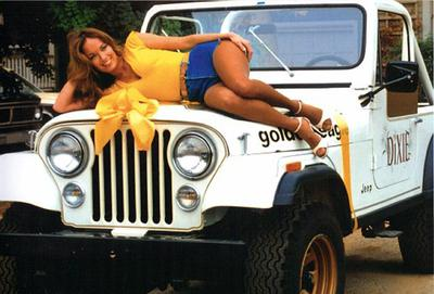 Daisy Duke and Jeep CJ7