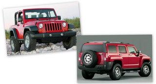 Jeep JK and Hummer H3 (File Photo)
