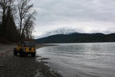 Harrison Lake Darrens jeep