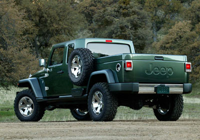 Jeep Gladiator Concept Rear View!