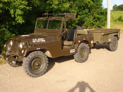M38A1 Jeep and Trailer