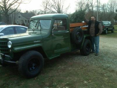 The 1951 Willys around Christmas!
