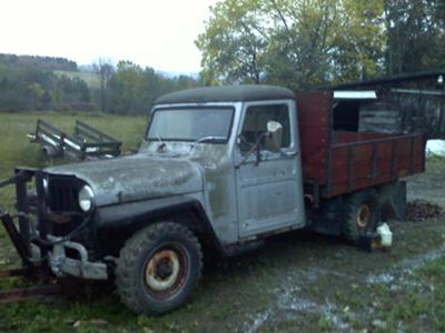 The '61 Willys dump truck the day I bought it