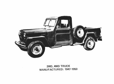 4x4 Truck 1947 Willys!