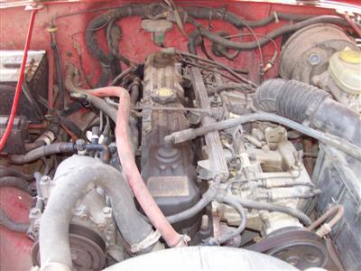 Jeep Exhaust Manifold '95 Wrangler 4.0L Engine Bay