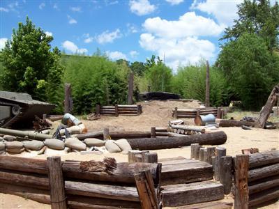 Pacific War Museum Mock Island Bunker Scene!