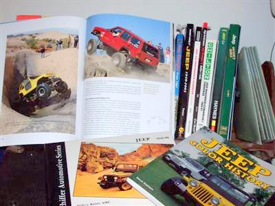 Car Books_Jeep Books Library Image!