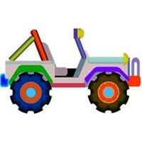 CJ Jeep Cartoon Image!
