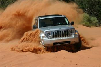 Jeep Liberty Off Road Kicking Up Dust!