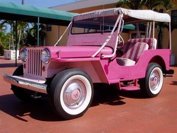 Postal Jeep 1965 Gala Surrey Pink Jeep