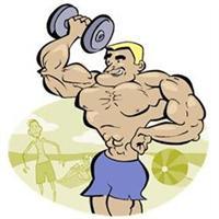 CJ Jeep Weight Lifter Cartoon Image!