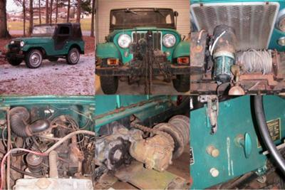 1955 Willys CJ5 with Electric Winch..PTO..Original motor runs!